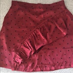 Cotton Candy LA mini red polka dot skirt